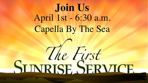 Capella By The Sea - Sunrise Service