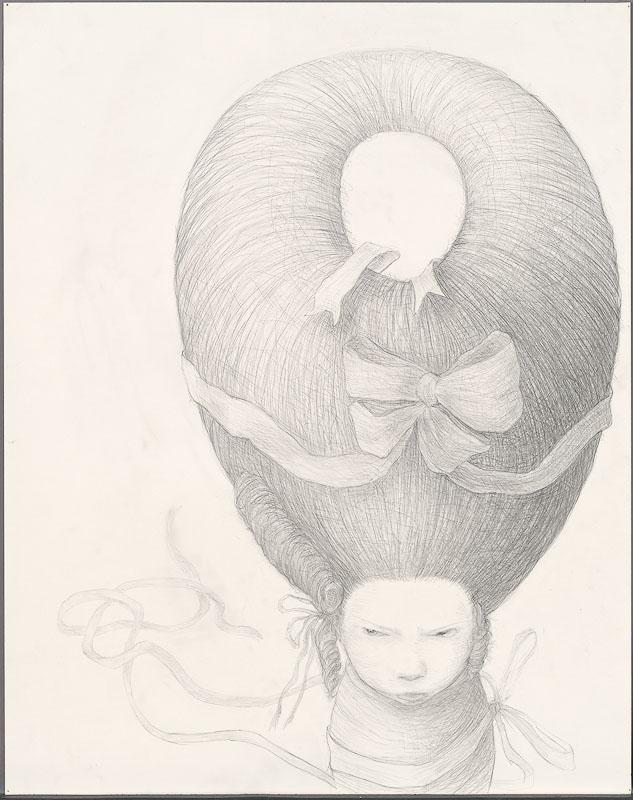 Sulk,  2009: graphite on paper, 36 x 24 inches