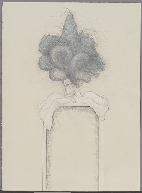 (sororal) twin screamers,  2008:paper, graphite, chalk, 32 x 24 inches