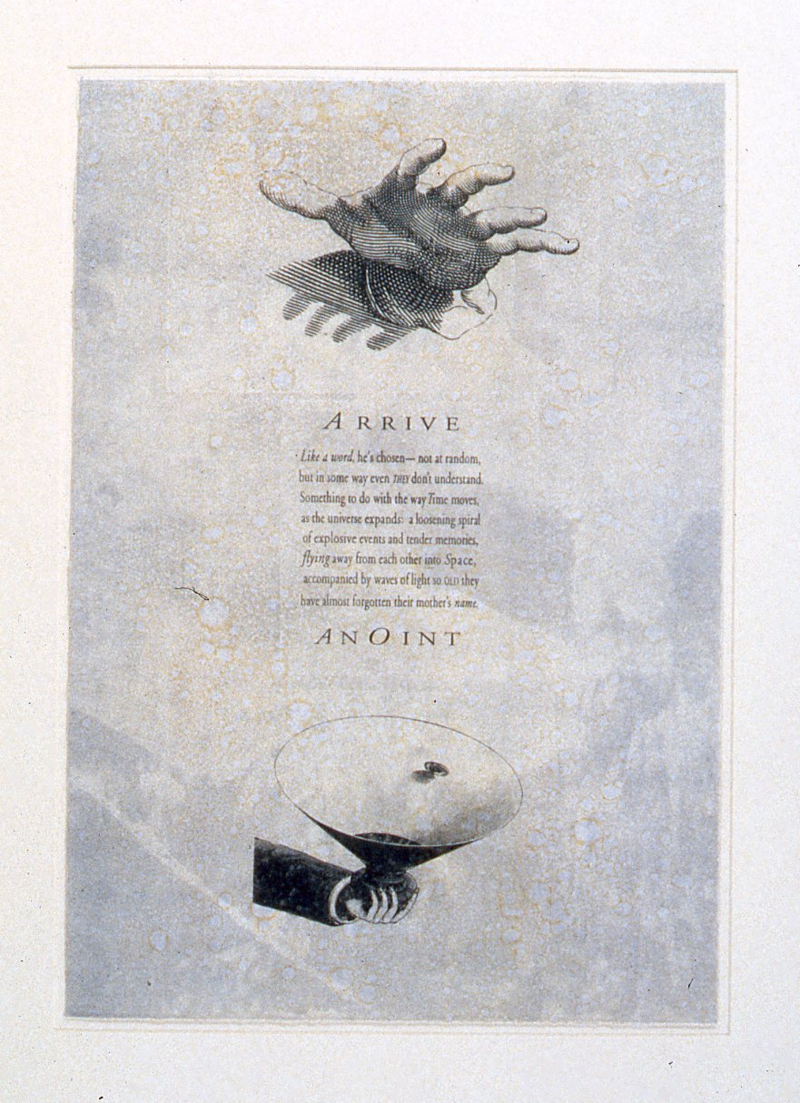 Angelfinder 2,  1996: monotype on paper, 22 x 17 inches