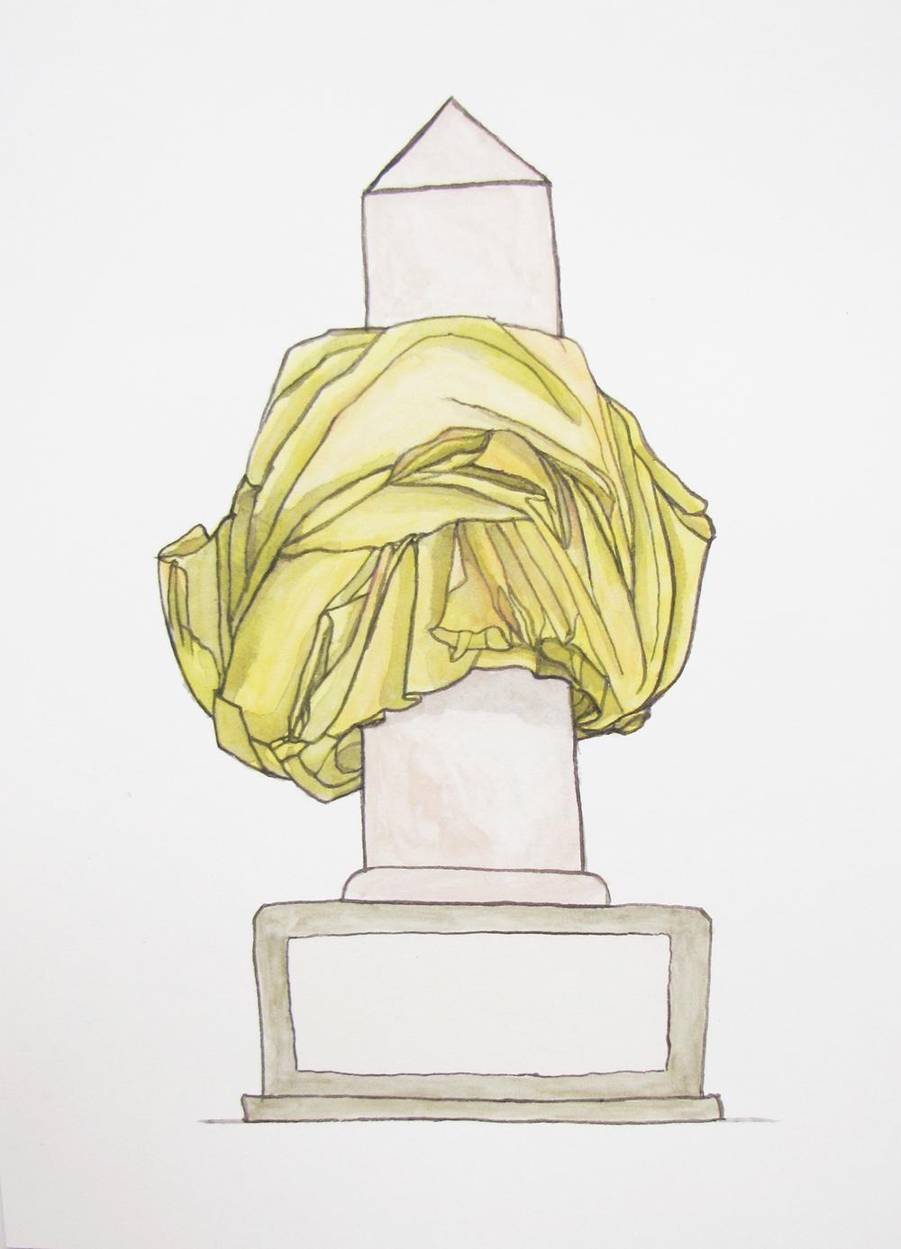 Bust/obelisk I(yellow) 2012