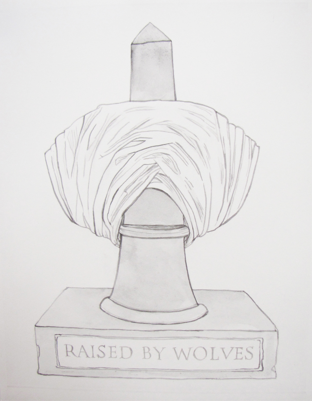 Bust/obelisk III (Raised by wolves) 2012