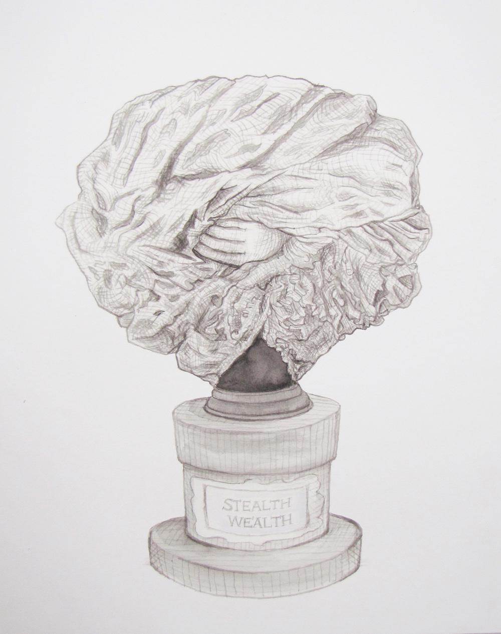 Bust 3 (Bernini's hand) 2012