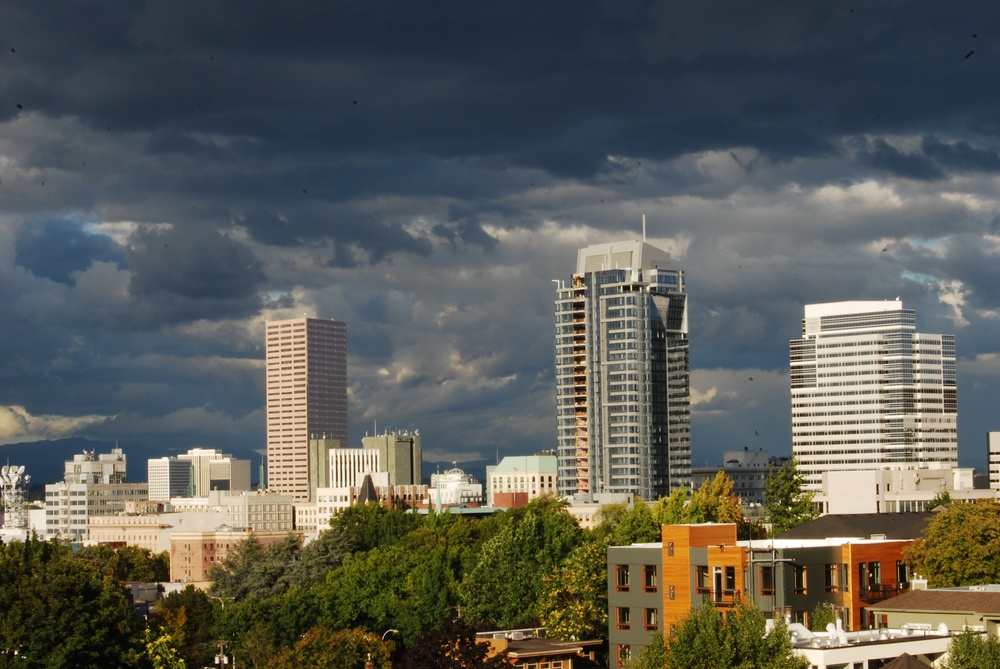 Stormy view over downtown | Portland, OR