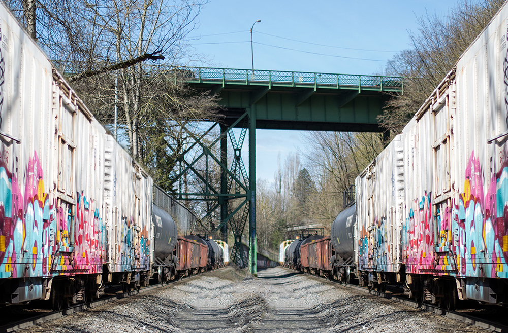 Mirrored trains | Portland, OR