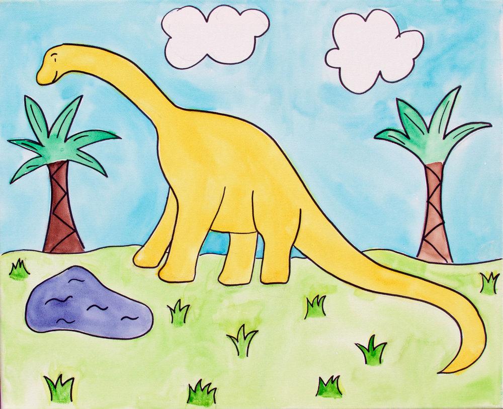 Dinosaur (Watercolor)