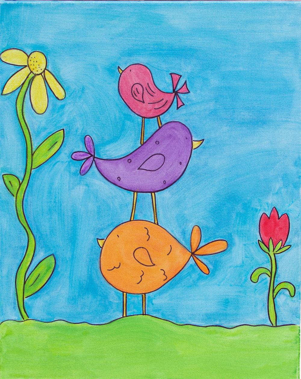 Three Little Birds (Watercolor)