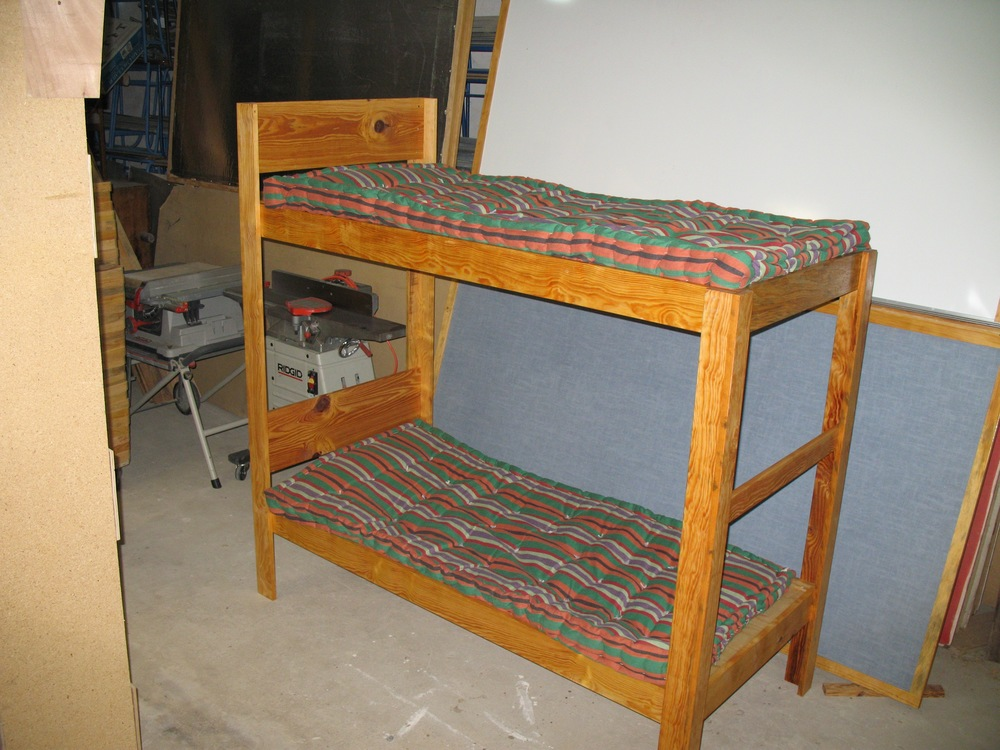 Simple bunk bed for poor family