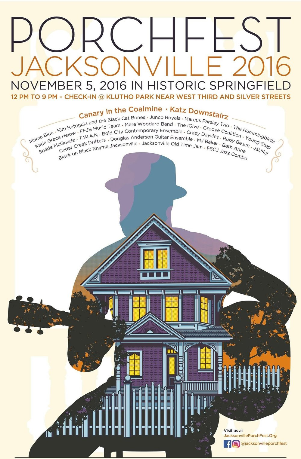The Jacksonville Porchfest 2016 takes place this Saturday in the Historic Springfield District of Jacksonville, FL