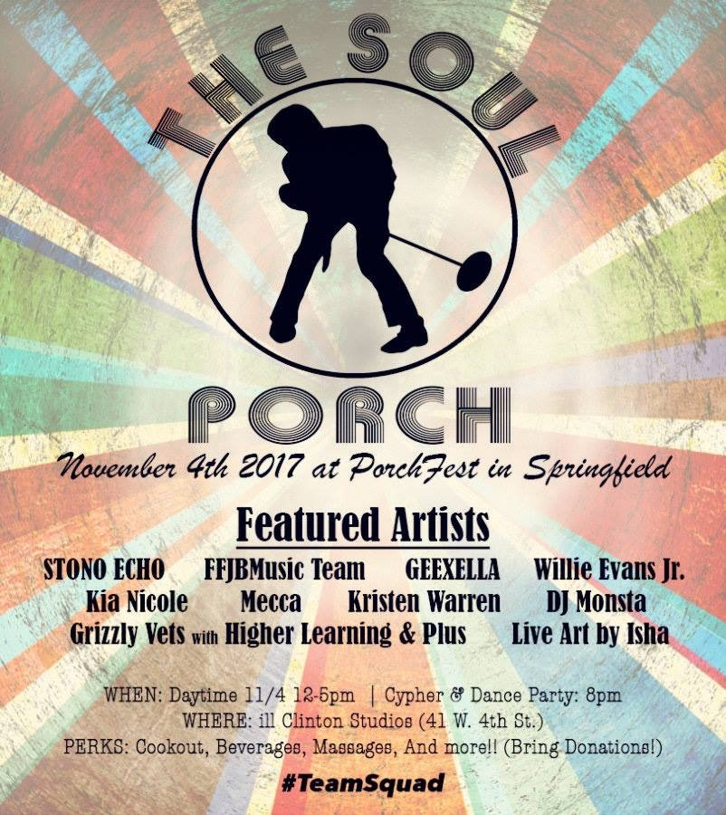 The Soul Porch is located at ill Clinton Studios in the heart of Springfield