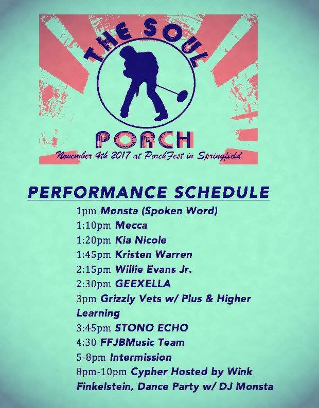 2017 Soul Porch performance line up
