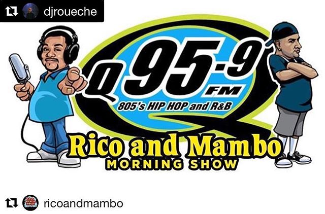 @djroueche making his radio debut this morning. ••••••••••••••••••• #Repost @djroueche 🚨🔊Droppin a couple live DJ sets tomorrow on @q959fm for the @ricoandmambo morning show. 9am-10am.  #DJ #LakersDJ #AvpDJ #HipHop #RnB #Remixes #WeekendWarmUpMix #ValaEnt