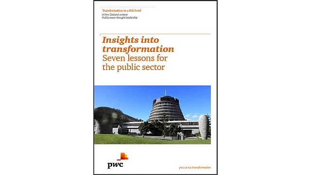 Transformation white paper - We worked on the the Insights into Transformation: Seven Lessons for the Public Sector report, which included interviews with public sector CEOs in New Zealand.