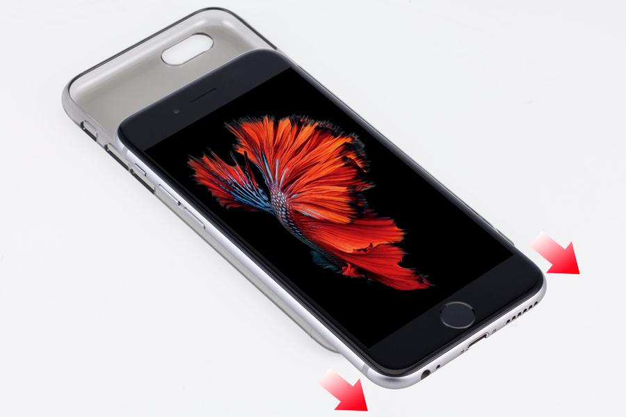 3.   最後に、  写真  のように  iPhone  を分離します。