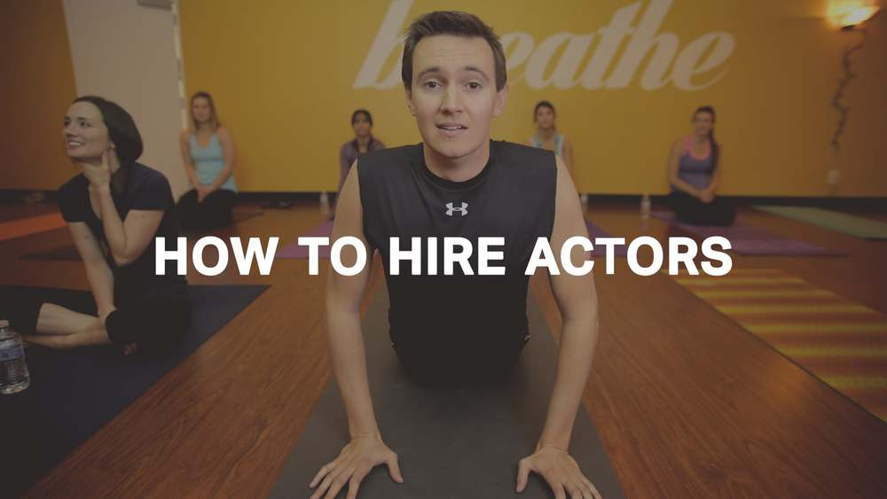 How to hire actors for your marketing videos.