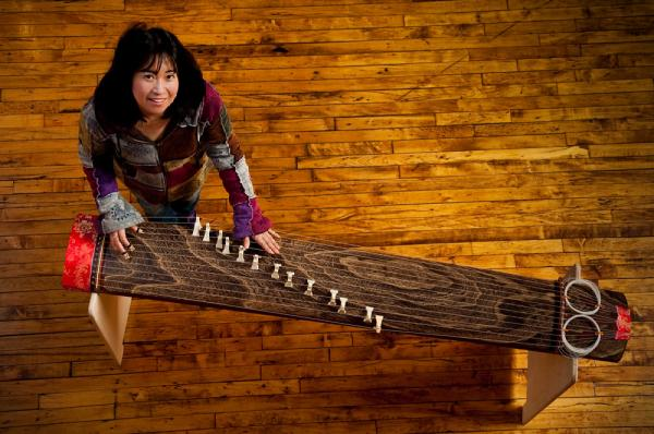 Ms. Matsuyama with her Koto