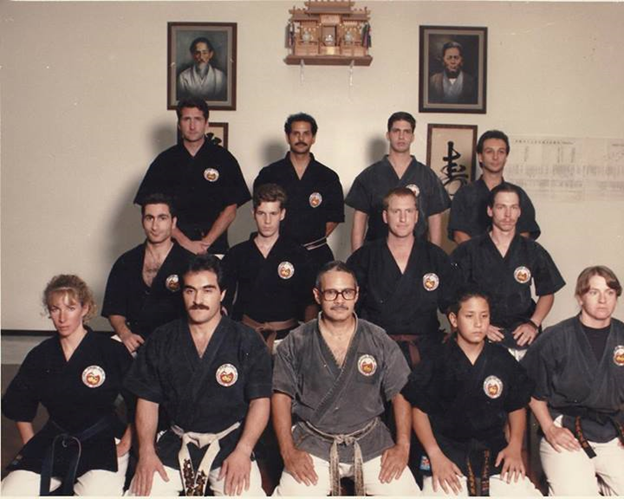 Shodan Okinowan Kobudo  under Kyoshi Anthony Marquez  front row left