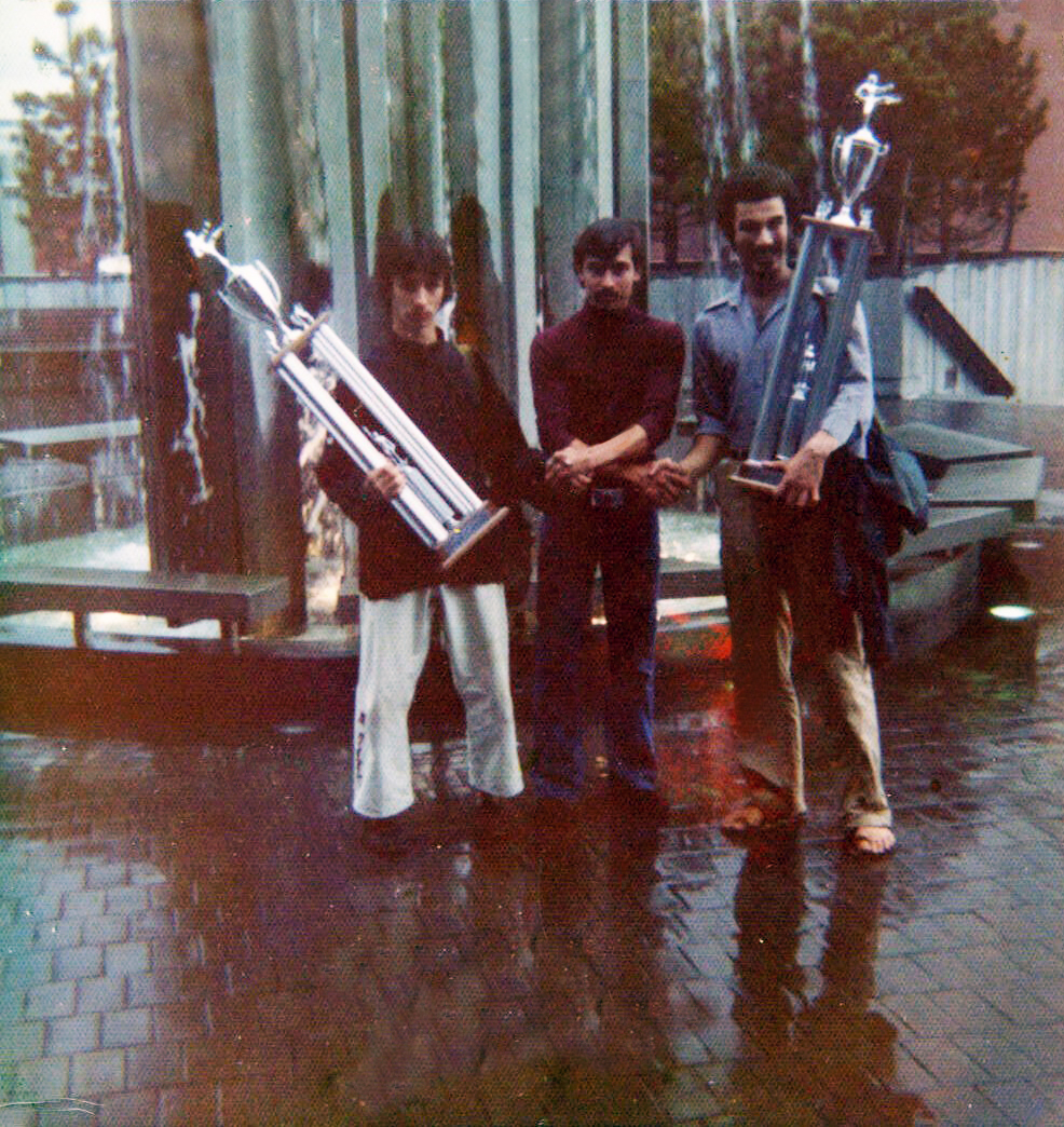Ty Aponte & Pedro Perez Kumite champions 1972 with Sensei  Hector  Martinez Long Island NY.jpg