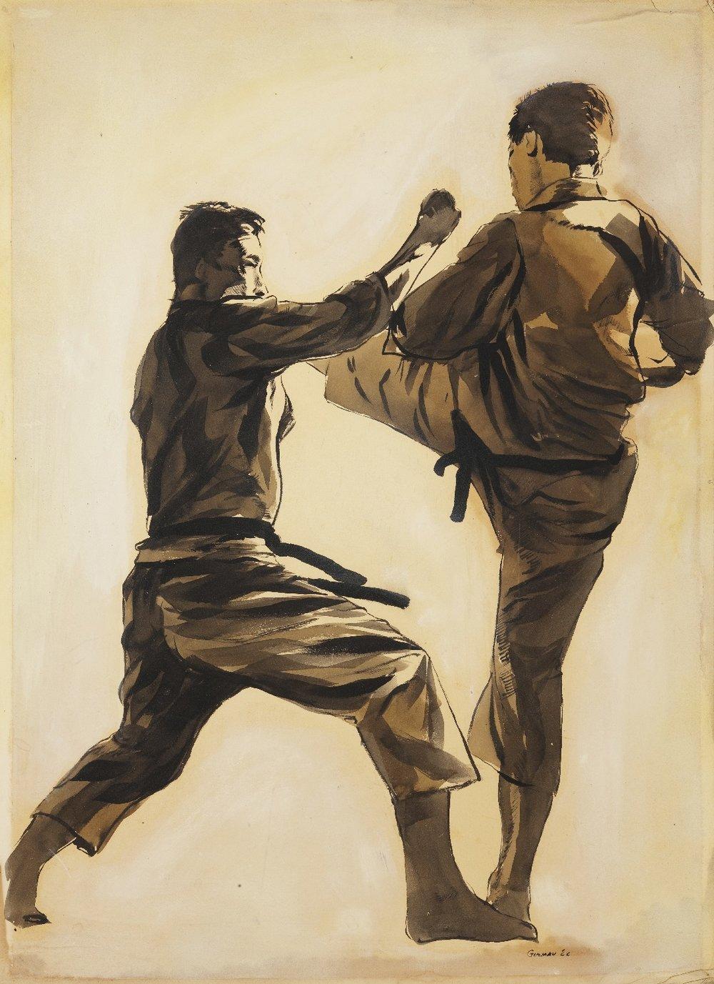 Artist: M. Guzman 1966 (SKL dojo Riverside)