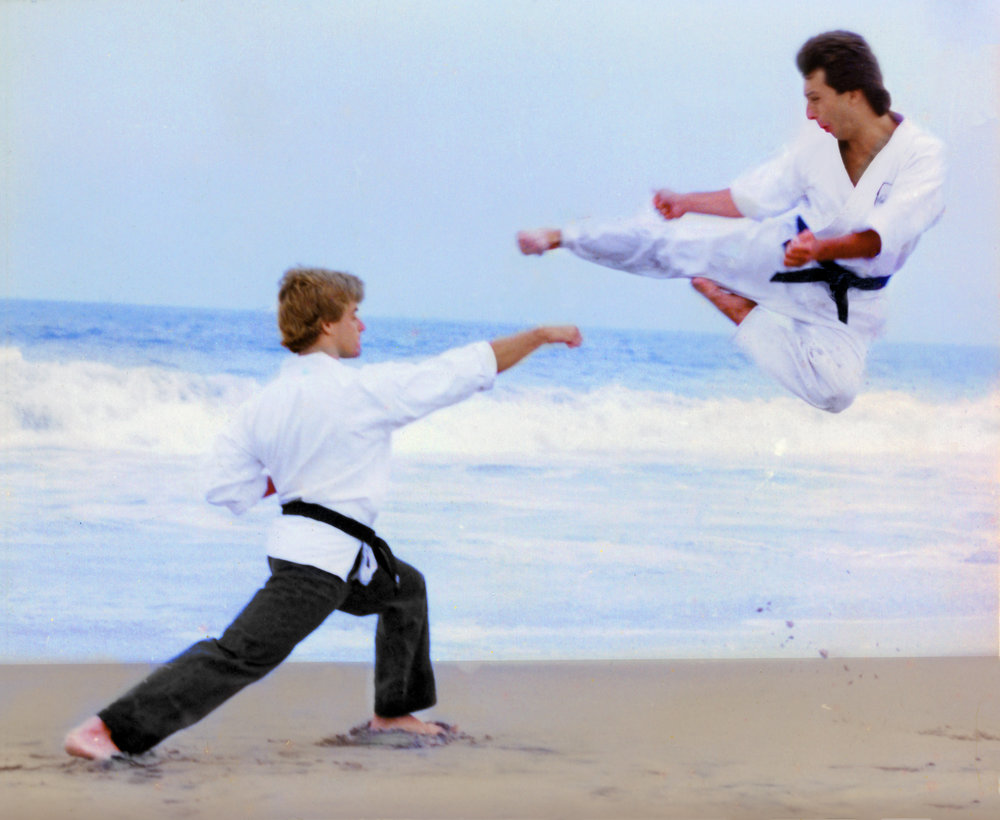 Ty Flying Side kick beach w - John Caldwell.jpg