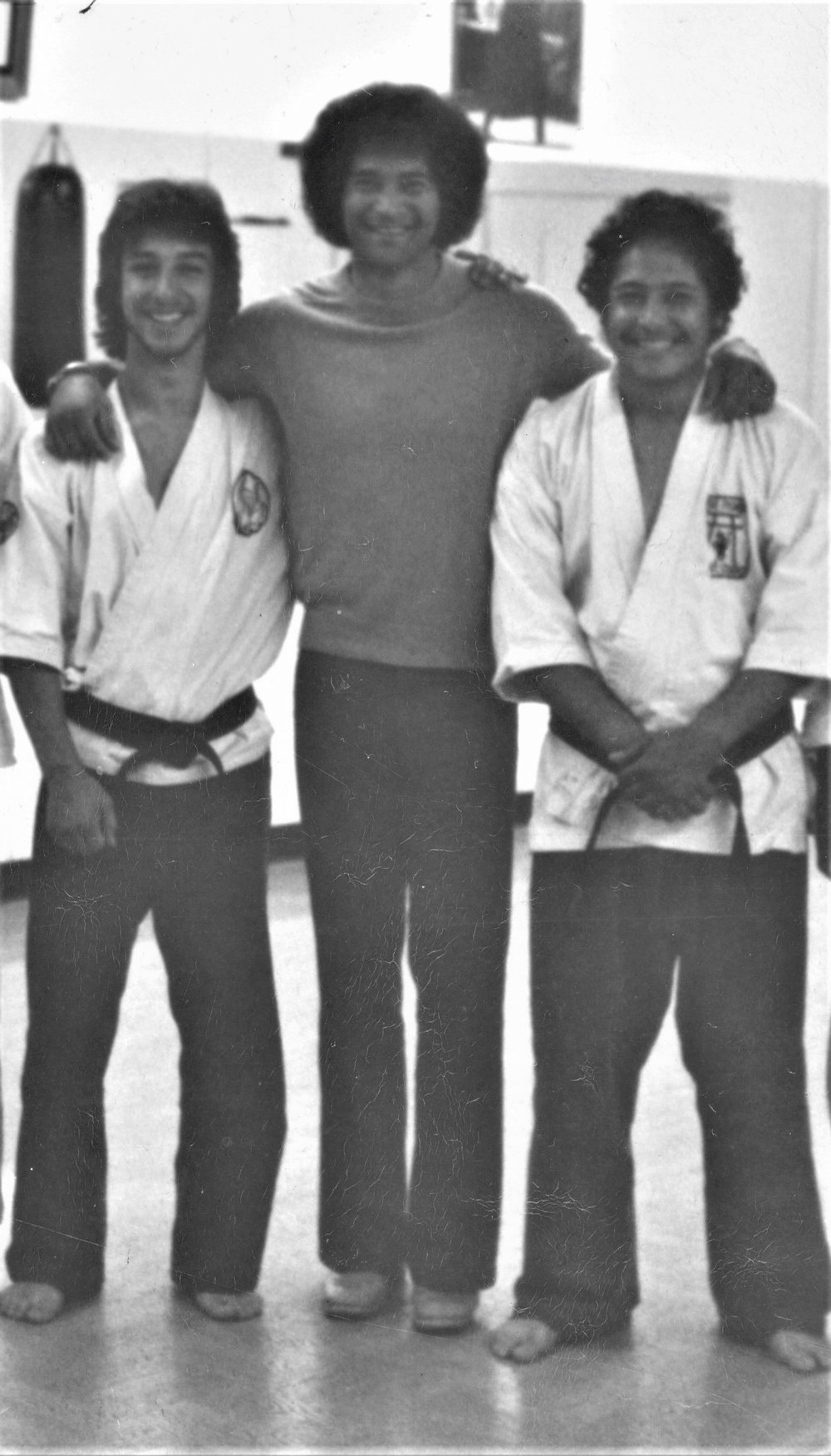 Sensei Ty with Mike Stone and Steve Fisher after a workout