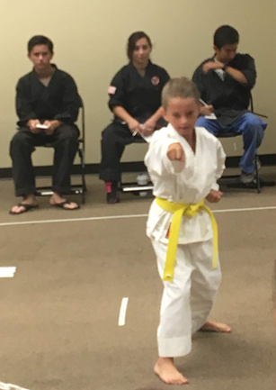 Nathaniel Goede  - Yellow belt - 2nd place kata