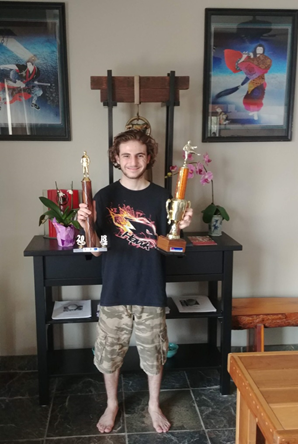 Devin Voiles  - Brown belt - 1st place Kata & Kumite