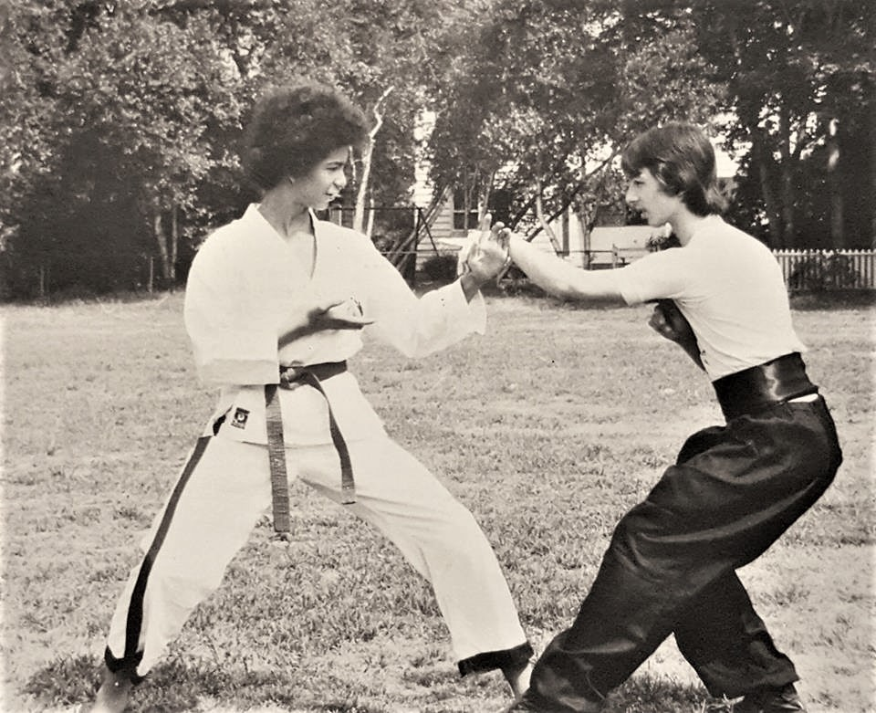 Kevin Jones & Ty Aponte Training in  the park early 1970's.jpg