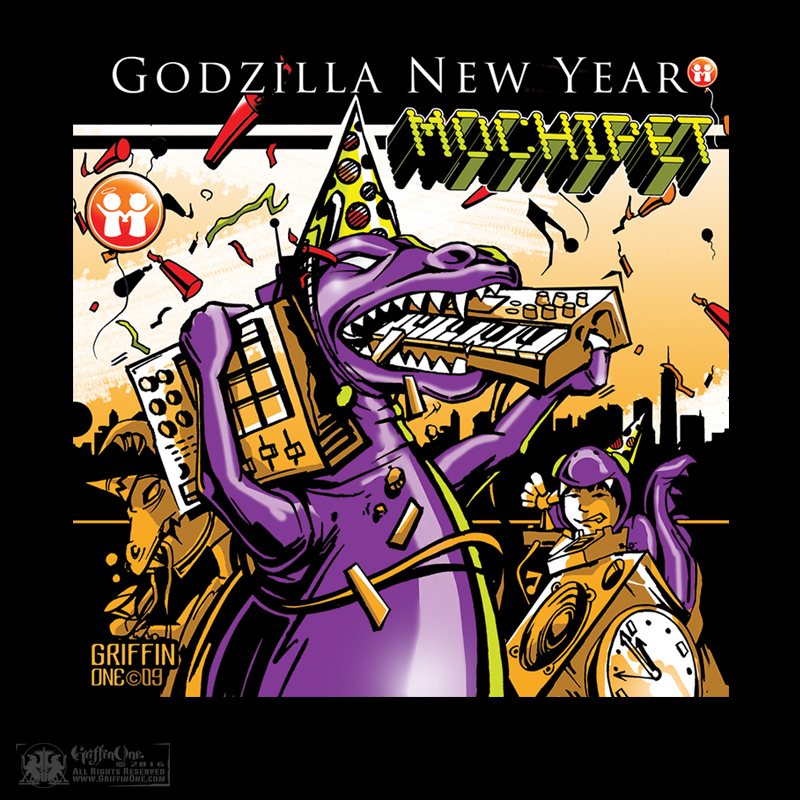 """Mochipet - Godzilla New Years"""