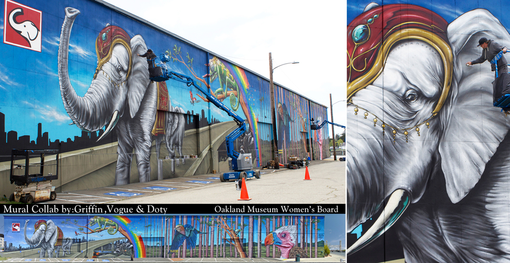"The ""White Elephant"" Mural - Oakland"