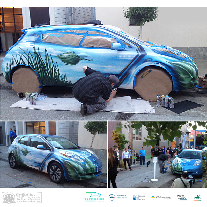"""""""Nissan Leaf - Live Art"""""""