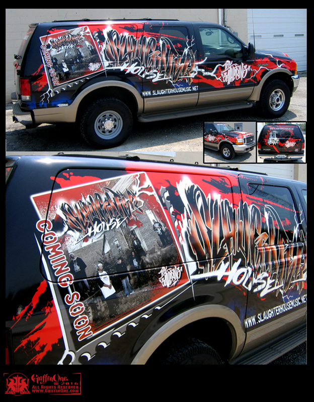 """Slaughter House Muisc - Vehicle Wrap"""