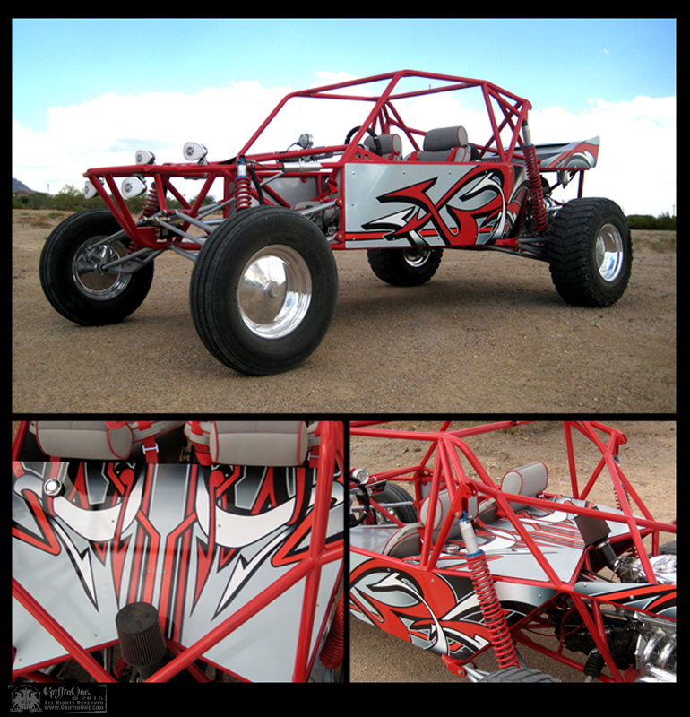 """Sand Rail Vehicle Vinyl Wrap"""
