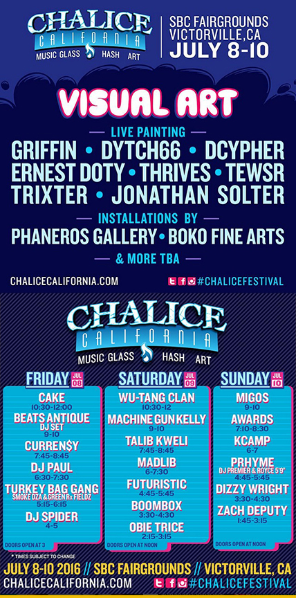 I'm Kick'in off the 2016 Festival Season with Chalice Festival July 8-10th! Painting Live at this years Festival includes; Griffin, Tewsr, Dytch66, Dcypher, Doty & Thrives!!! Sponsored by LoopColors.