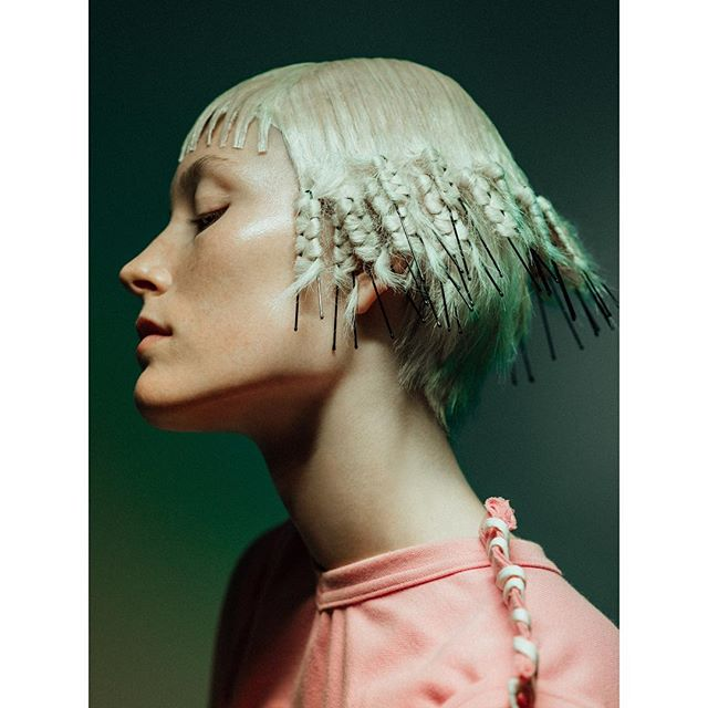 #undercut #fringe for @infringemagazine  #photographer @paradisonyc  #muse @carolinelossberg  #stylist @lisahnguyen  #makeup @hollygowers  #nail @narinanails  #hair by me  #hair-help @cortneycrace  Special thanks to; @theindustrymgmt @pier59studios