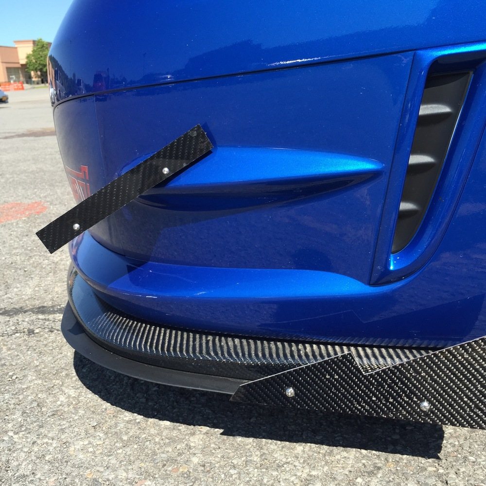 Custom front canards and splitter with carbon fiber fins