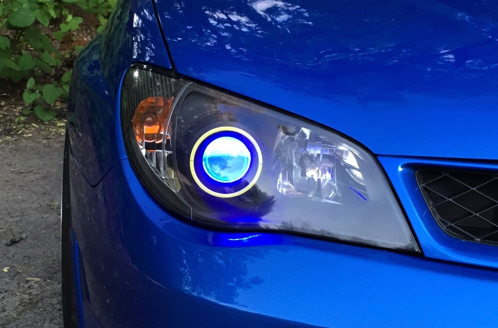 Demon Eyes - Looking for a subtle way to accent your car without going too wild? Look no further than our LED demon eyes! This effect is created by mounting colored LED just behind the projector lens of the light.