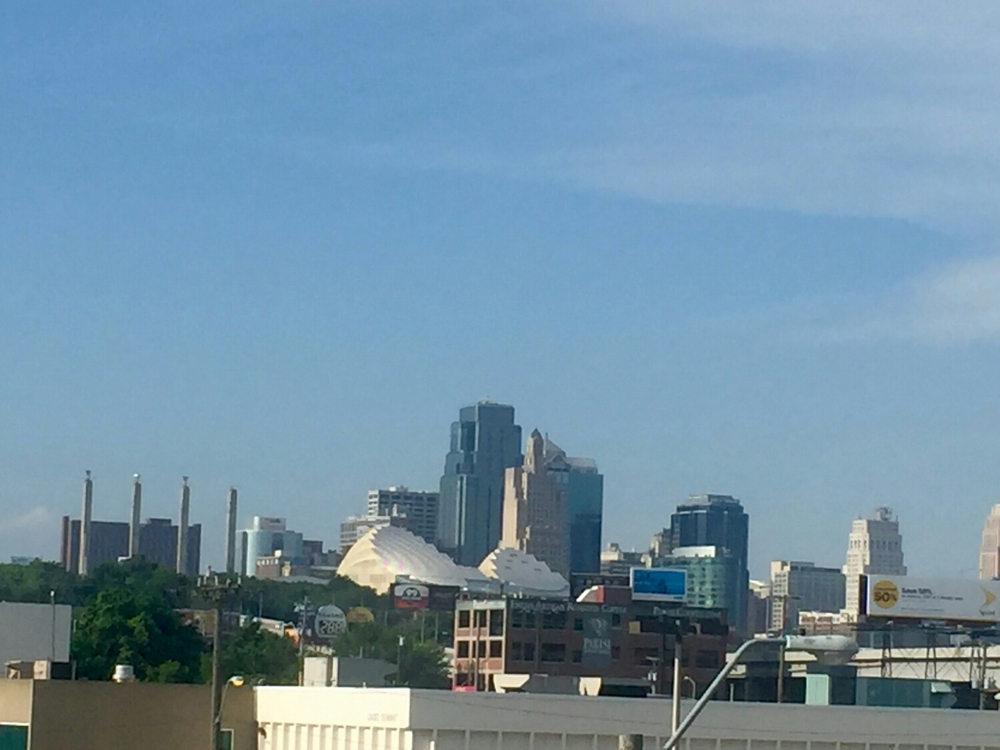 Downtown Kansas City view from Boulevard's Beer Hall deck