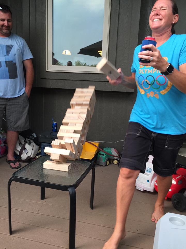 Jenga-this is Nellie losing in the finals!