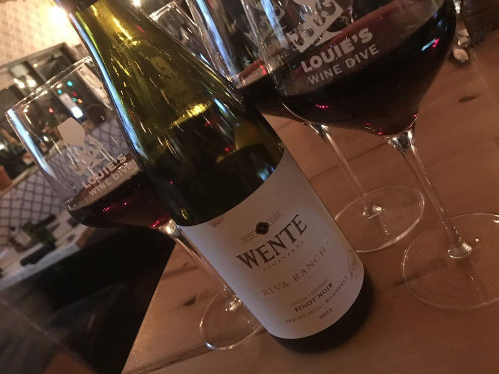 Wente Vinyards , a light but flavorful pinot noir