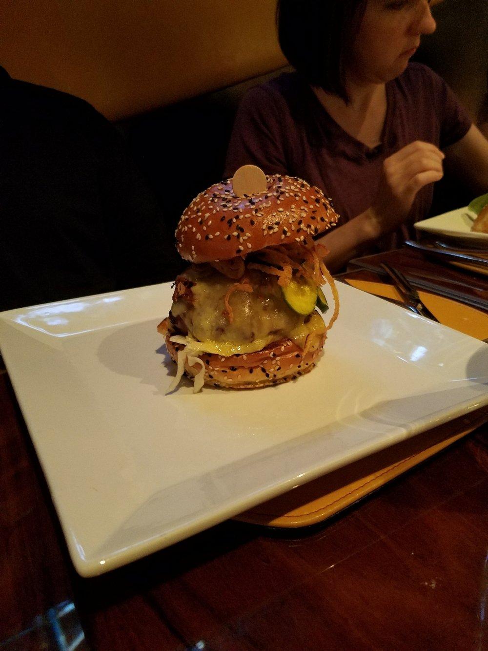 Delicious and Huge burger at Gordon Ramsay Burger