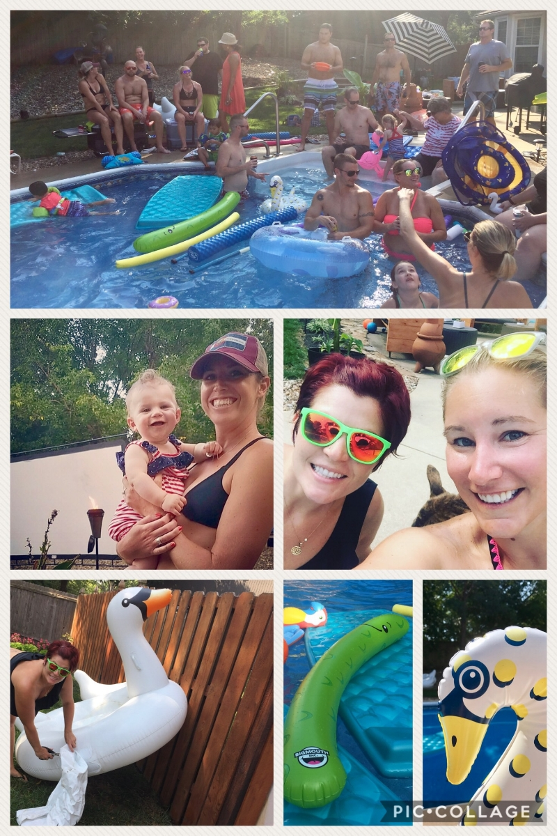 What do you get when a swan, a pickle and a baby walk into a pool party???  An Unfiltered Pool Party of course!