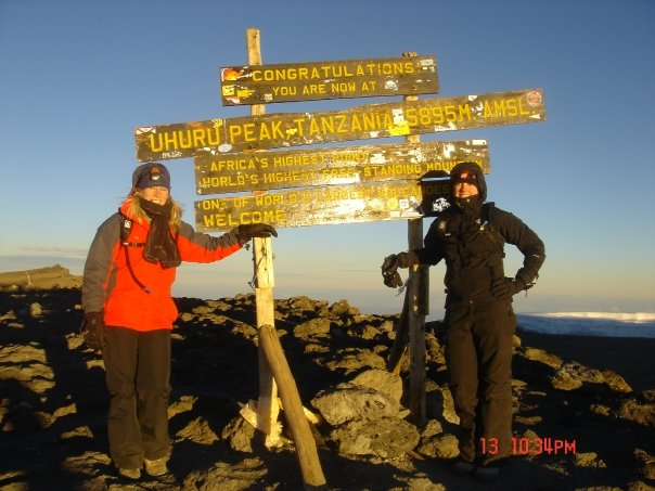 2008-Yes that is Mount Kilimajaro!
