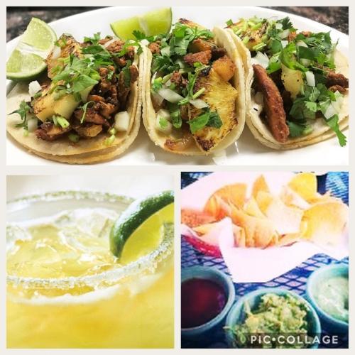 Tacos, margaritas, and guacamole