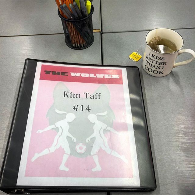 FINALLY. My ODP training is finally teaming up with my Tisch BFA in one spectacular soccer-filled-girl-power show 🙈🙏🏻 feeling ridiculously grateful and proud to finally be working Ms. DeLappe's masterpiece. *also, this cup was assigned to me, and it's absolutely true* 💋#TheWolvesDallas