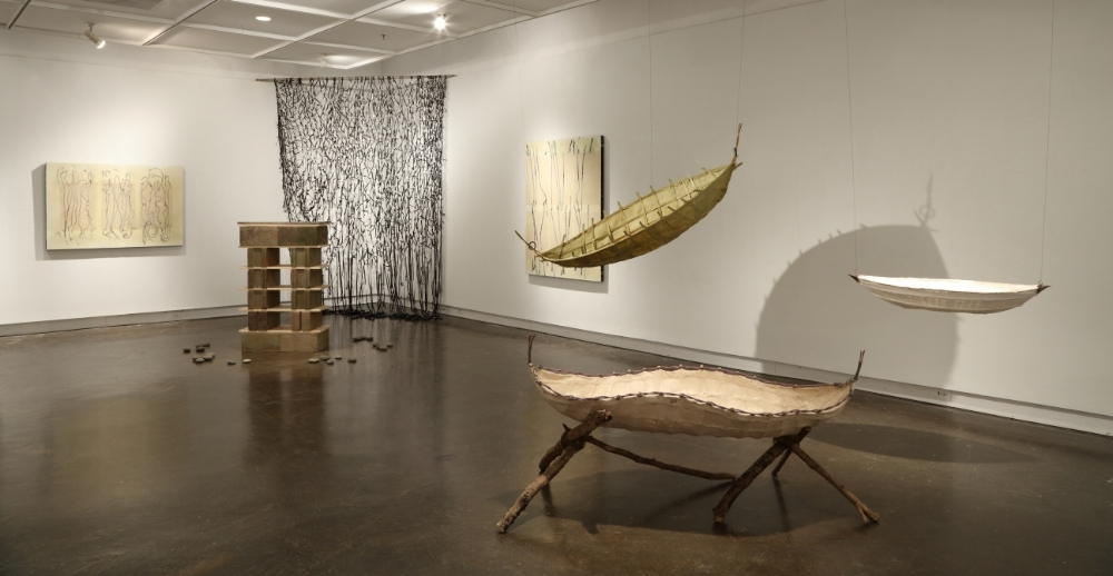 Installation view-  Antediluvian , MFA thesis exhibit, May 2018, Welch Gallery, Georgia State University