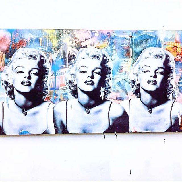 "Triple Monroe - mixed media, aerosol & acrylic on 24""x48"" wood panel with epoxy resin finish. Available via @beaconart . . . . . . . . . . . . .  #SeekOne #ContemporaryArt #FineArt #StreetArt #Art #Artist #ArtStudio #Graffiti #ArtCollector #MixedMedia #ArtCollector #MixedMedia #PopArt #Artist #LuxuryLifestyle #AbstractArt #NYCArt #MixedMedia #AbstractArt #Philadelphia #NYC #Hamptons #WallStreet #MiamiArt #LAArt #StoneHarbor"