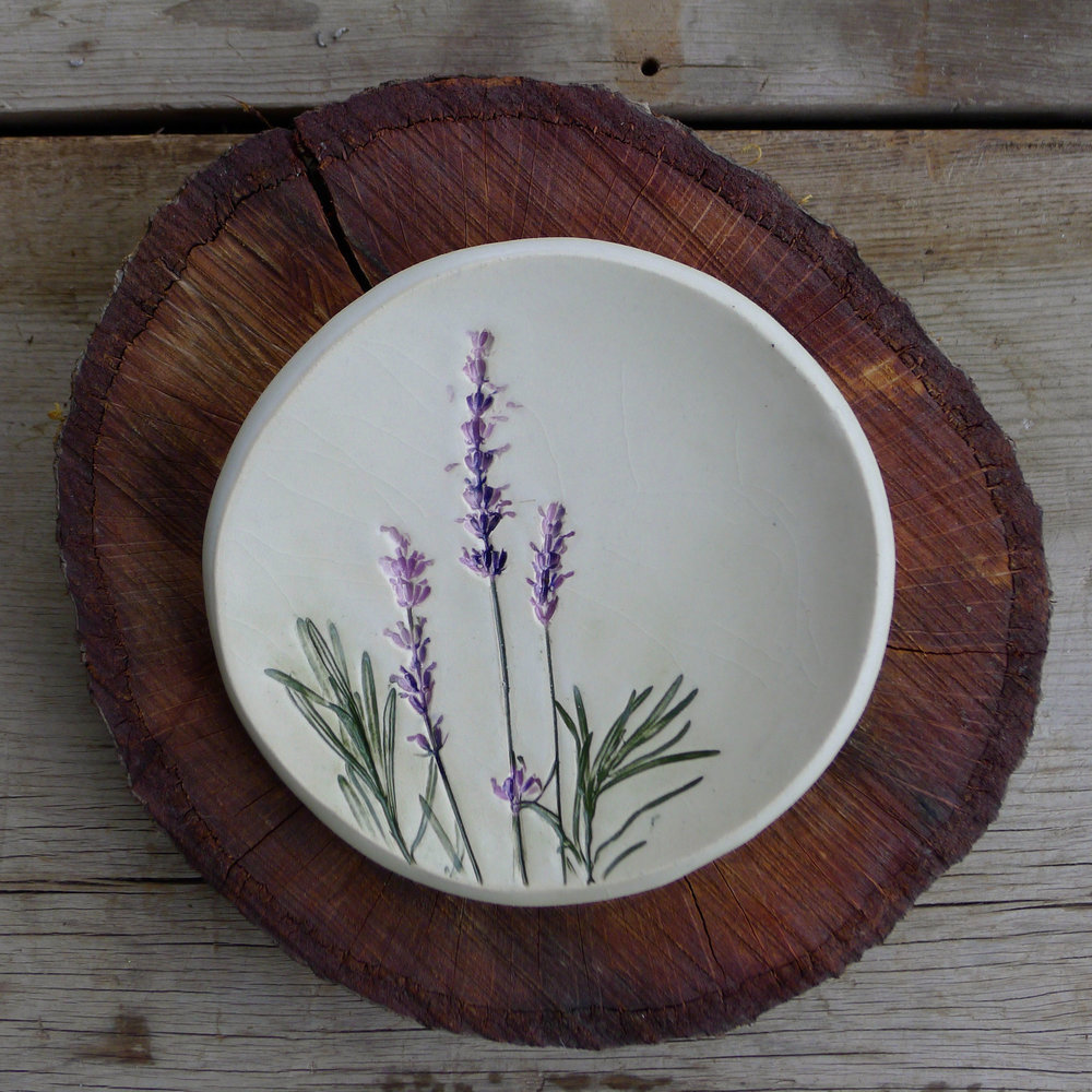 lavender plate on stump.jpg