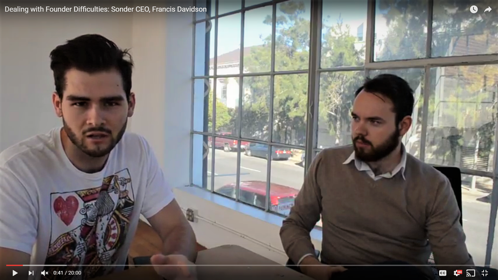 Dealing with Startup Difficulties: Sonder CEO Francis Davidson
