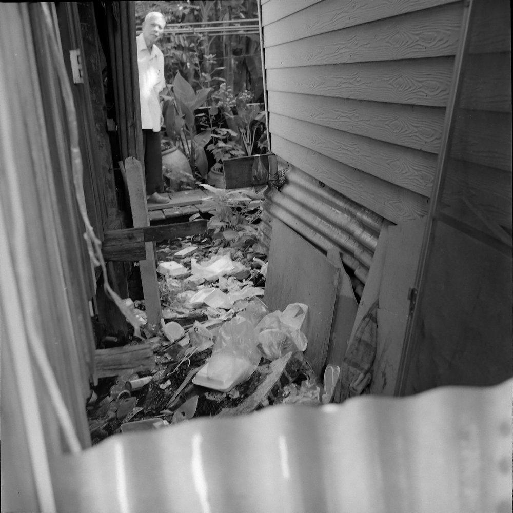 chromacomaphoto black white rolleiflex bangkok thailand street photography slum khlong toei